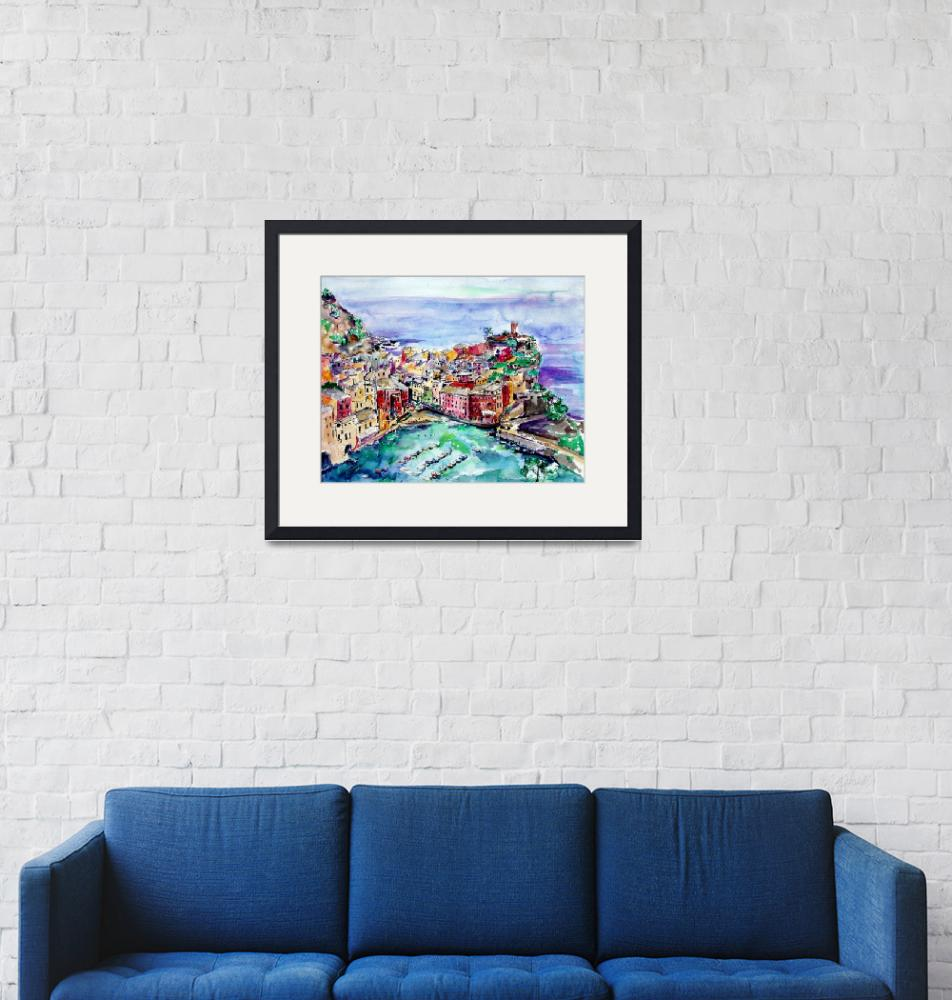 """Vernazza Italy Cinque Terre Painting by Ginette""  (2003) by GinetteCallaway"
