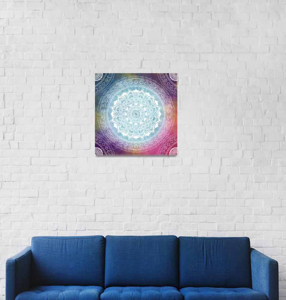 """""""Colorful Mandala Boho Pattern""""  (2019) by ImageMonkey"""