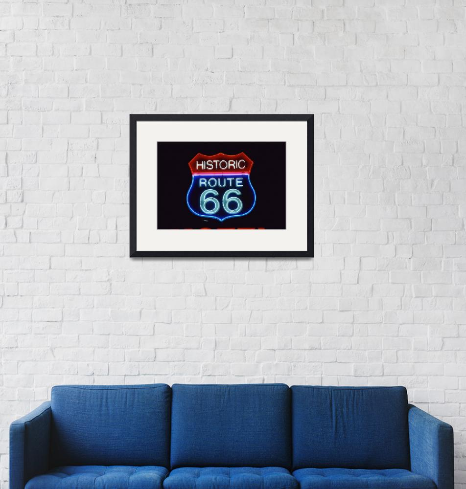 """""""Neon Route 66 Sign""""  by Panoramic_Images"""
