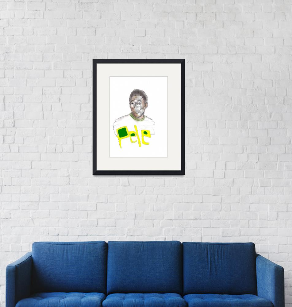 """Pele Portrait""  (2009) by edsherrell"