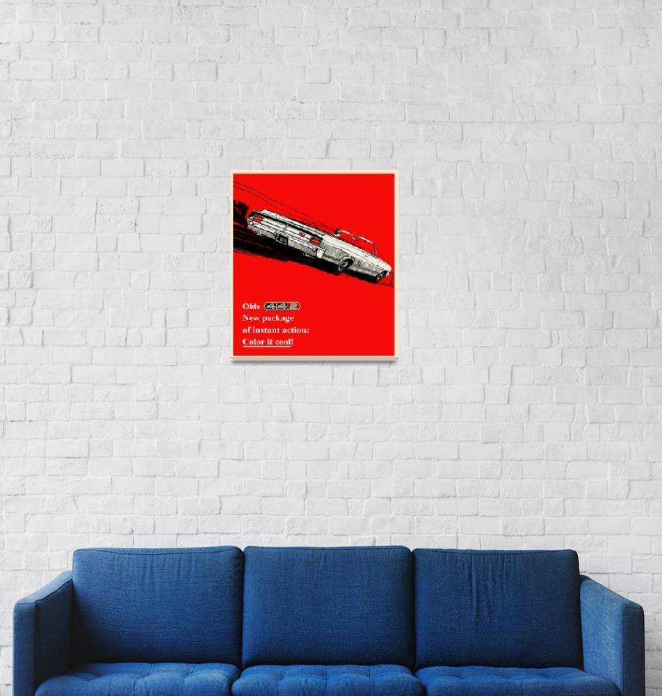 """1965 Oldsmobile 442 vintage advertisement""  (2010) by felixpadrosa"