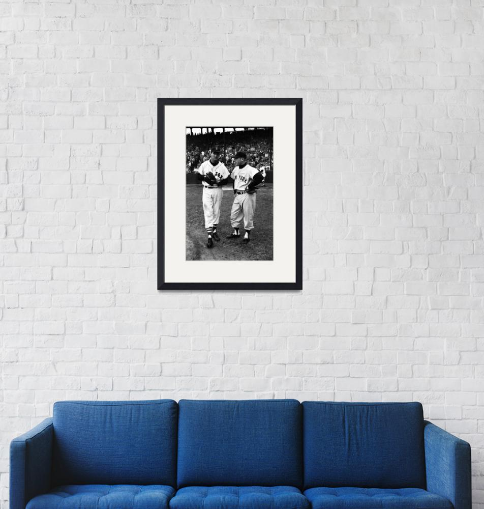 """""""Mickey Mantle with Ted Williams""""  by RetroImagesArchive"""