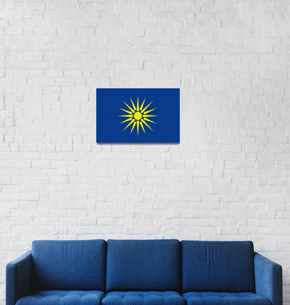 """Greek Macedonia flag""  by tony4urban"