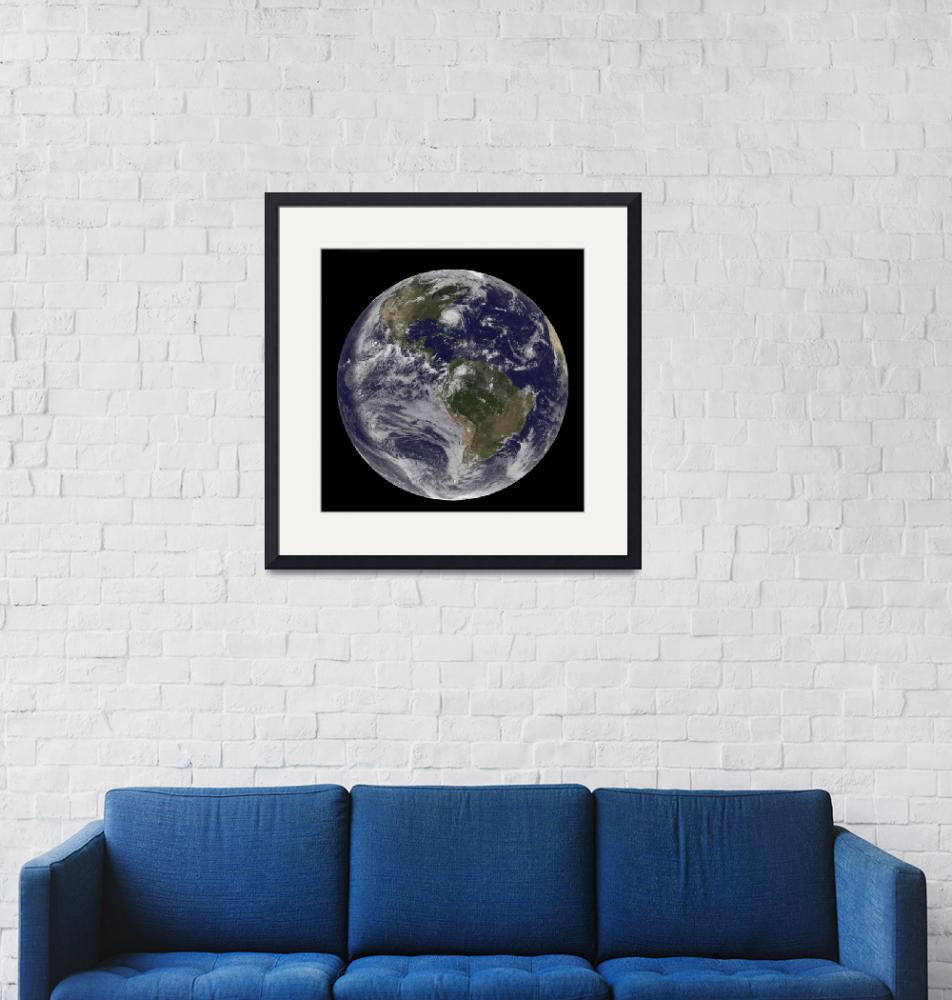 """""""Full Earth with Hurricane Irene visible on the Uni""""  by stocktrekimages"""