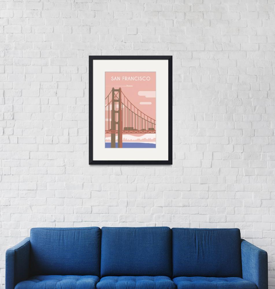 """""""Travel Poster of San Fracisco 139"""" by Arpina"""