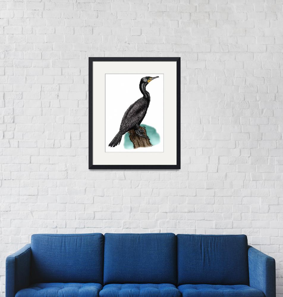 """""""Double-Crested Cormorant""""  by inkart"""