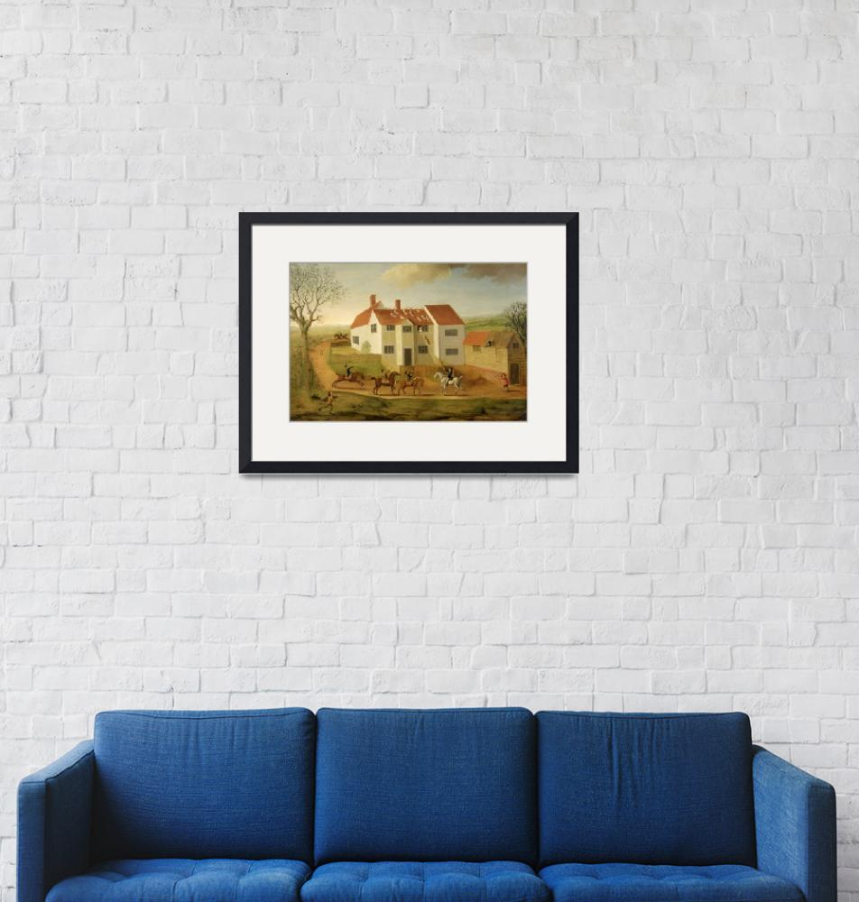 """""""John Sidey and his Hounds at a Farmhouse""""  by fineartmasters"""