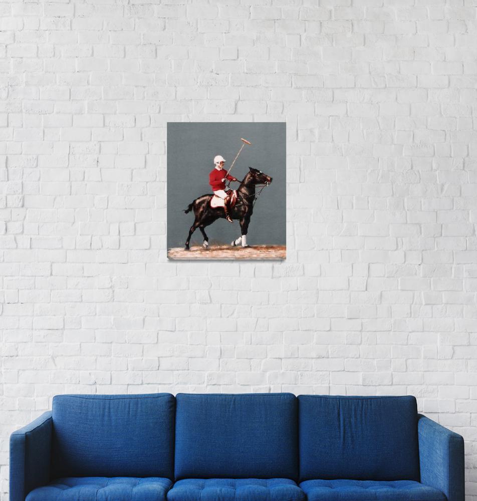 """Polo Pony (horse) painting""  by AnimalsbyDiDi"
