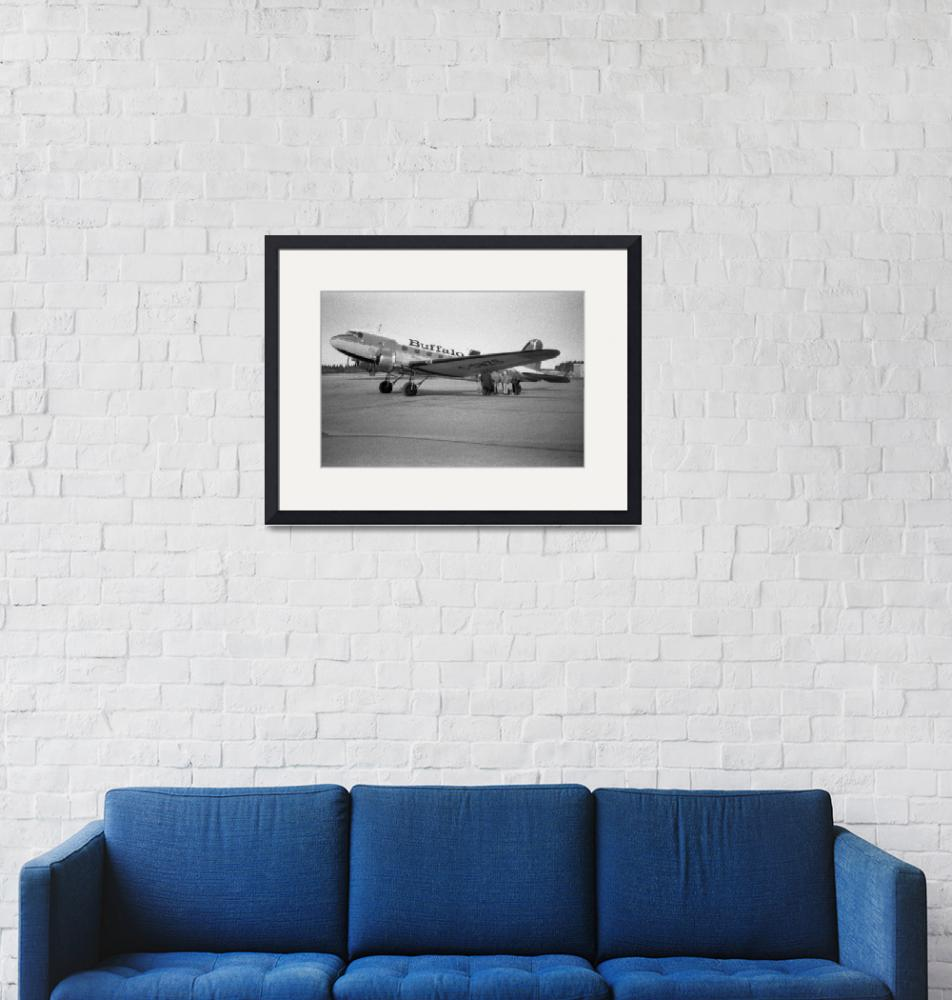 """DC-3 to Yellowknife""  (1999) by robmorg"