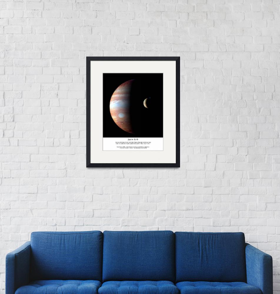 """Jupiter and IO Framed""  (2012) by SouthIdahoPhoto"