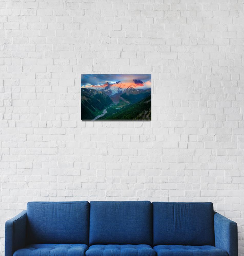 """Mount Rainier before Dawn""  (2011) by Inge-Johnsson"
