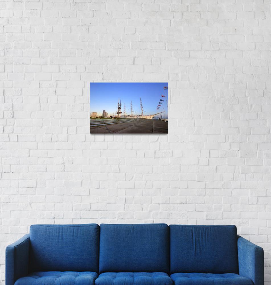 """""""Gdynia at dawn""""  (2012) by linktopoland"""