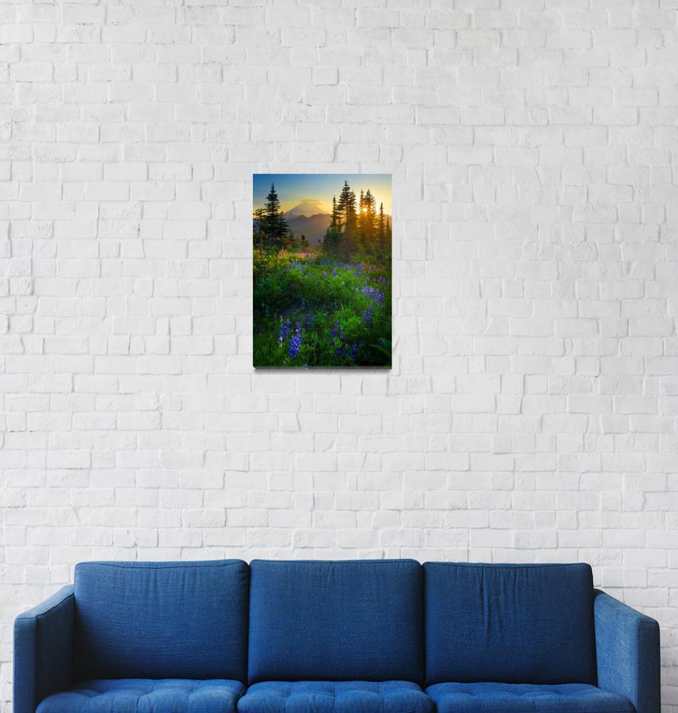 """""""Mount Rainier Sunburst""""  (2009) by Inge-Johnsson"""