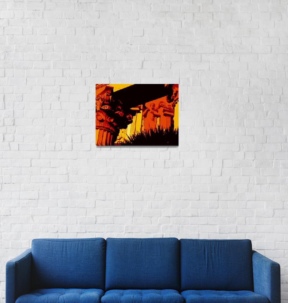 """Orange Rome""  (2009) by whitewallgallery"