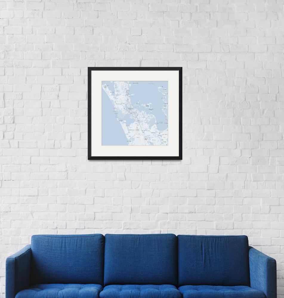 """Minimalist Modern Map of Acukland, New Zealand""  by motionage"