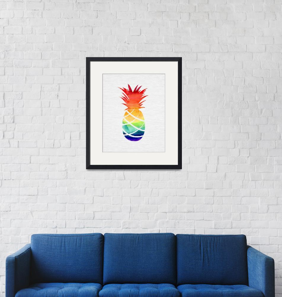 """""""Rainbow Pineapple"""" (2018) by moderntropical"""