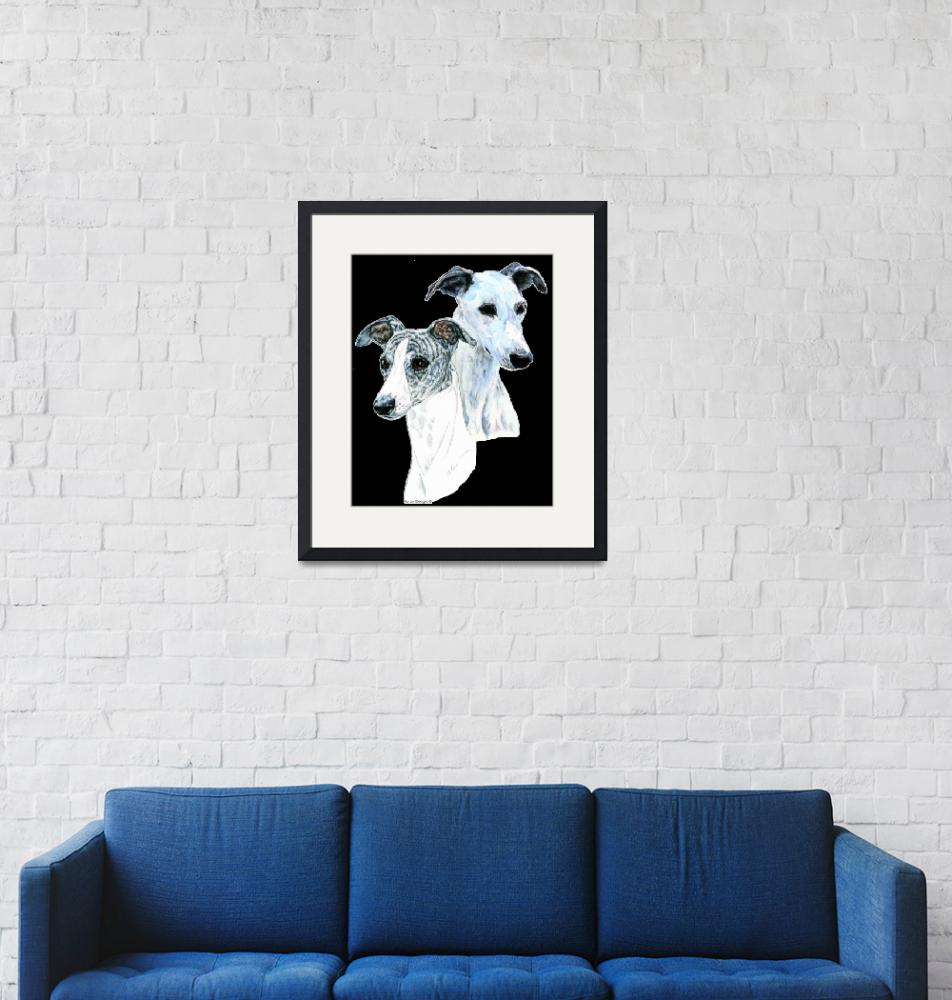 """""""Whippet Portraits"""" (2008) by KathleenSepulveda"""