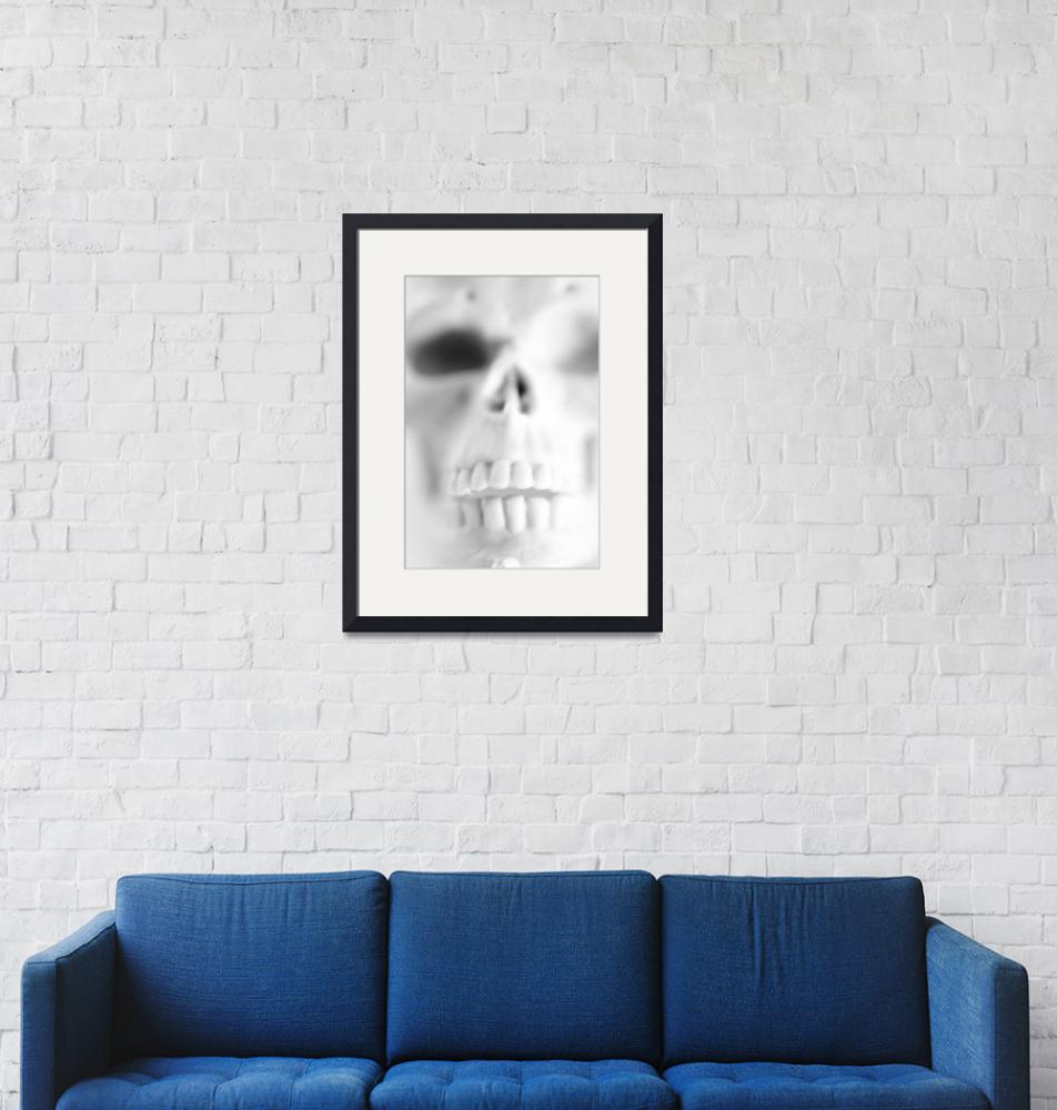 """Skull in Black and White""  (2009) by Amberwatsonwilliams"