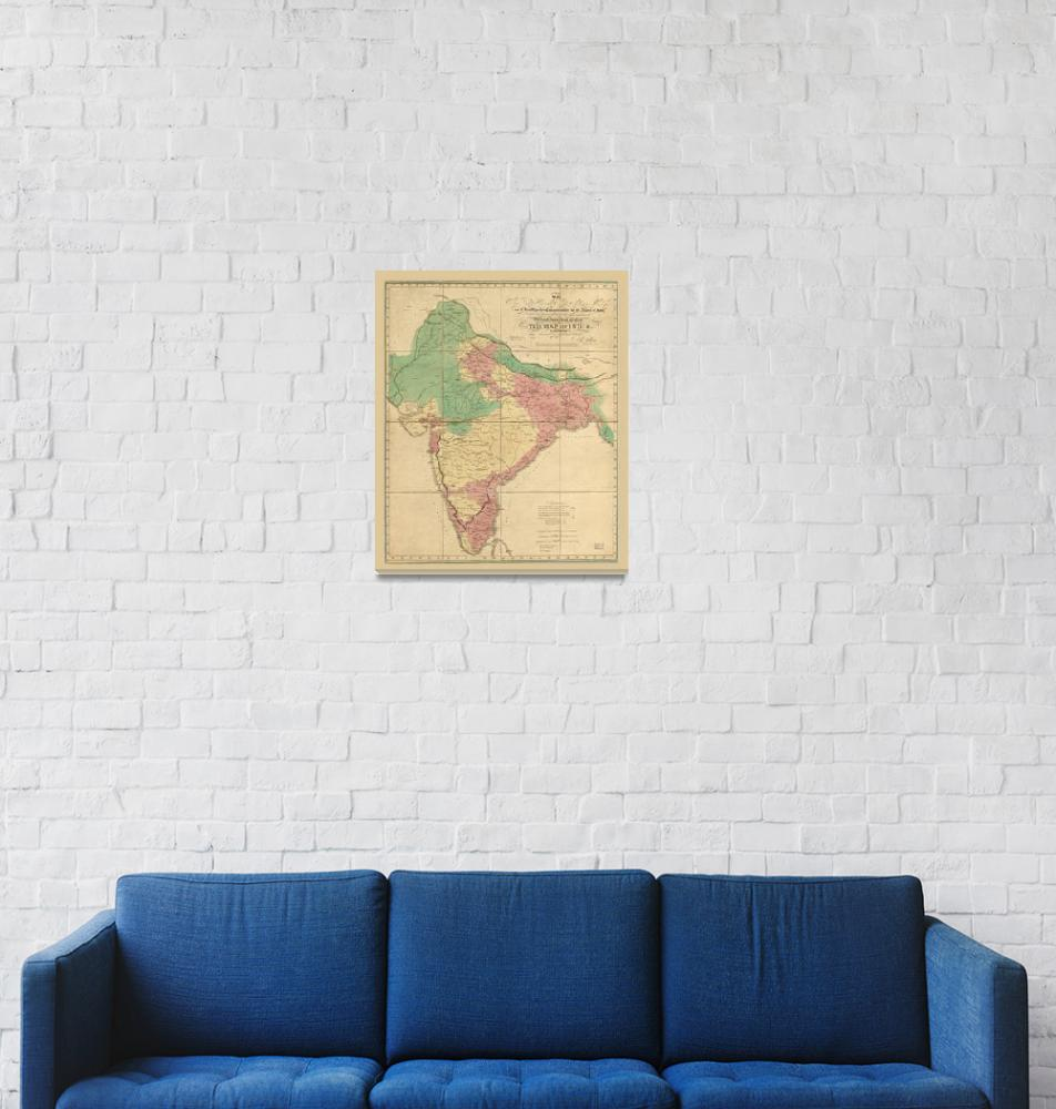 """""""Map of India (1818)""""  by ArtHistory"""
