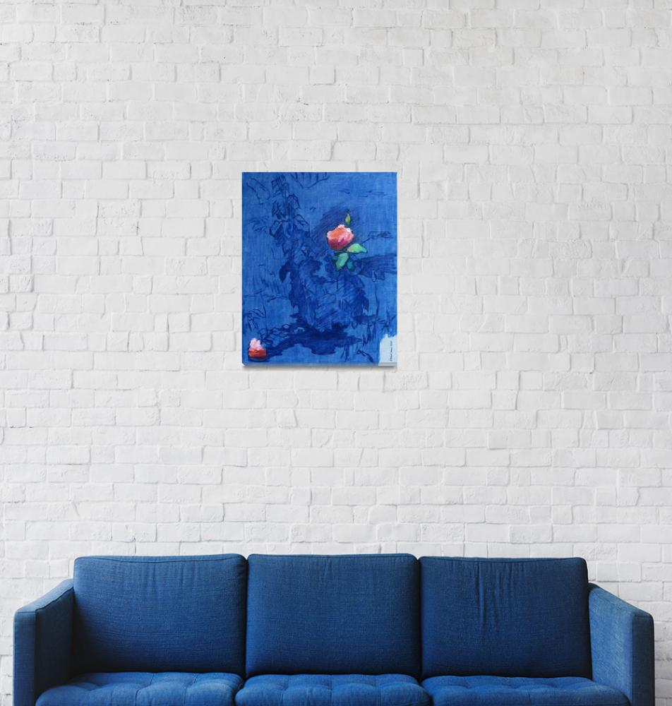 """""""The Rose Against a Blue Background""""  (2006) by ivan_kolisnyk"""