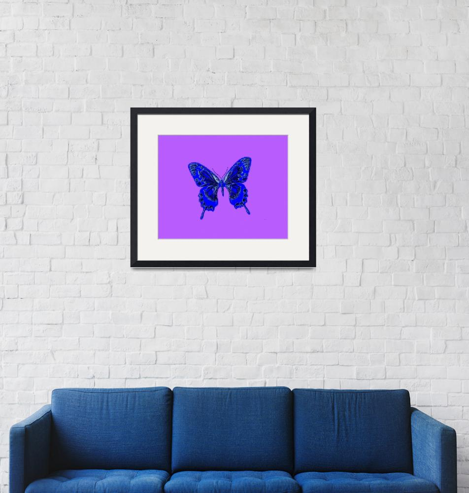 """""""Blue Butterfly Lavender Background""""  (2013) by TheNorthernTerritory"""