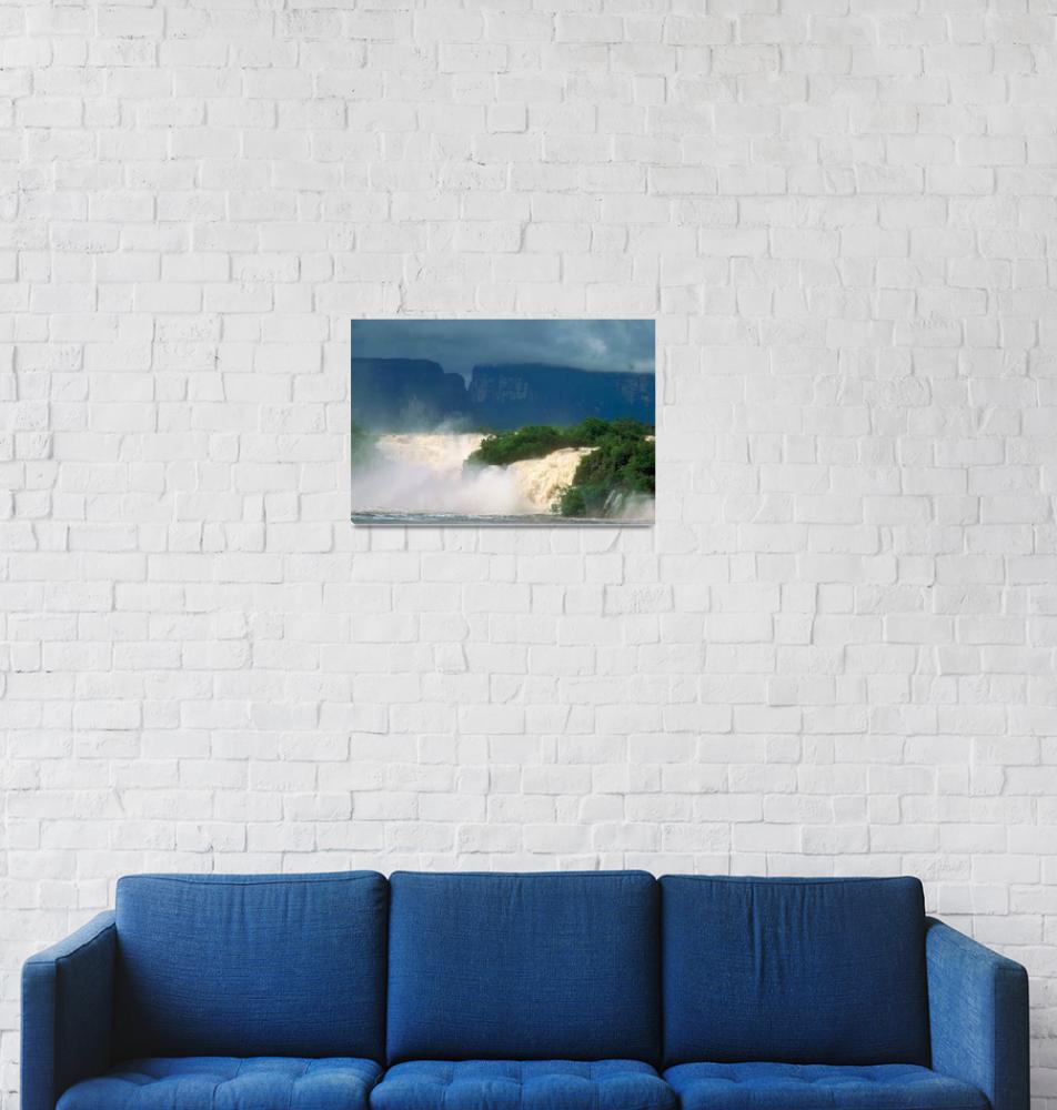 """Canaima Falls in Venezuela South America""  by ArtLoversOnline"