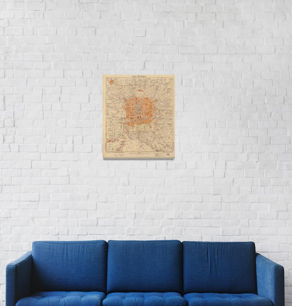"""""""Vintage Map of Beijing China (1907)""""  by Alleycatshirts"""