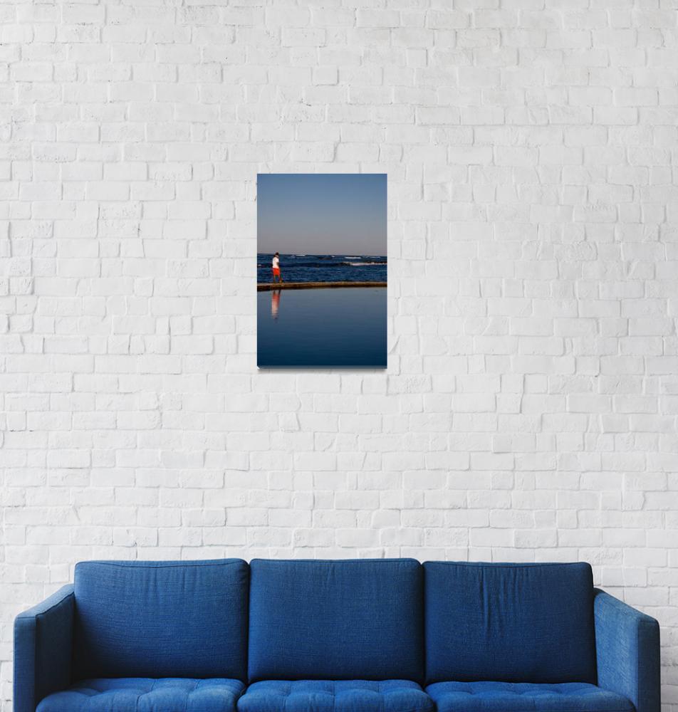 """Lifeguard reflections""  (2009) by Burntalex"