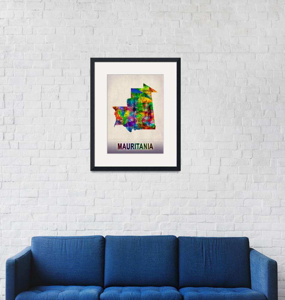 """""""Mauritania Map""""  by Towseef"""