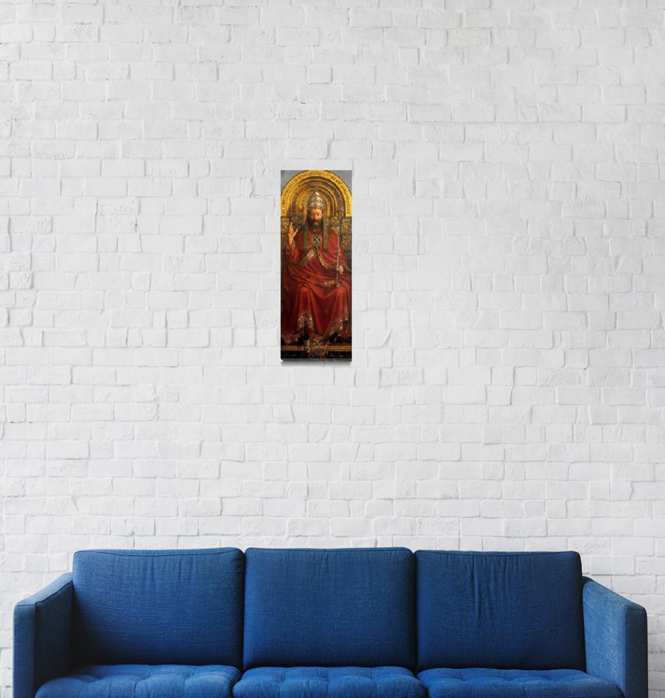 """Jan van Eyck~The Ghent Altarpiece Christ""  by Old_master"