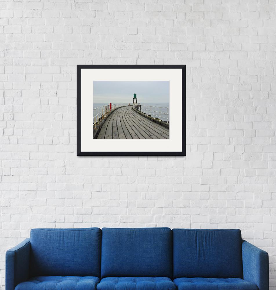 """""""West Pier and Beacon  (15611-RDA)""""  (2008) by rodjohnson"""