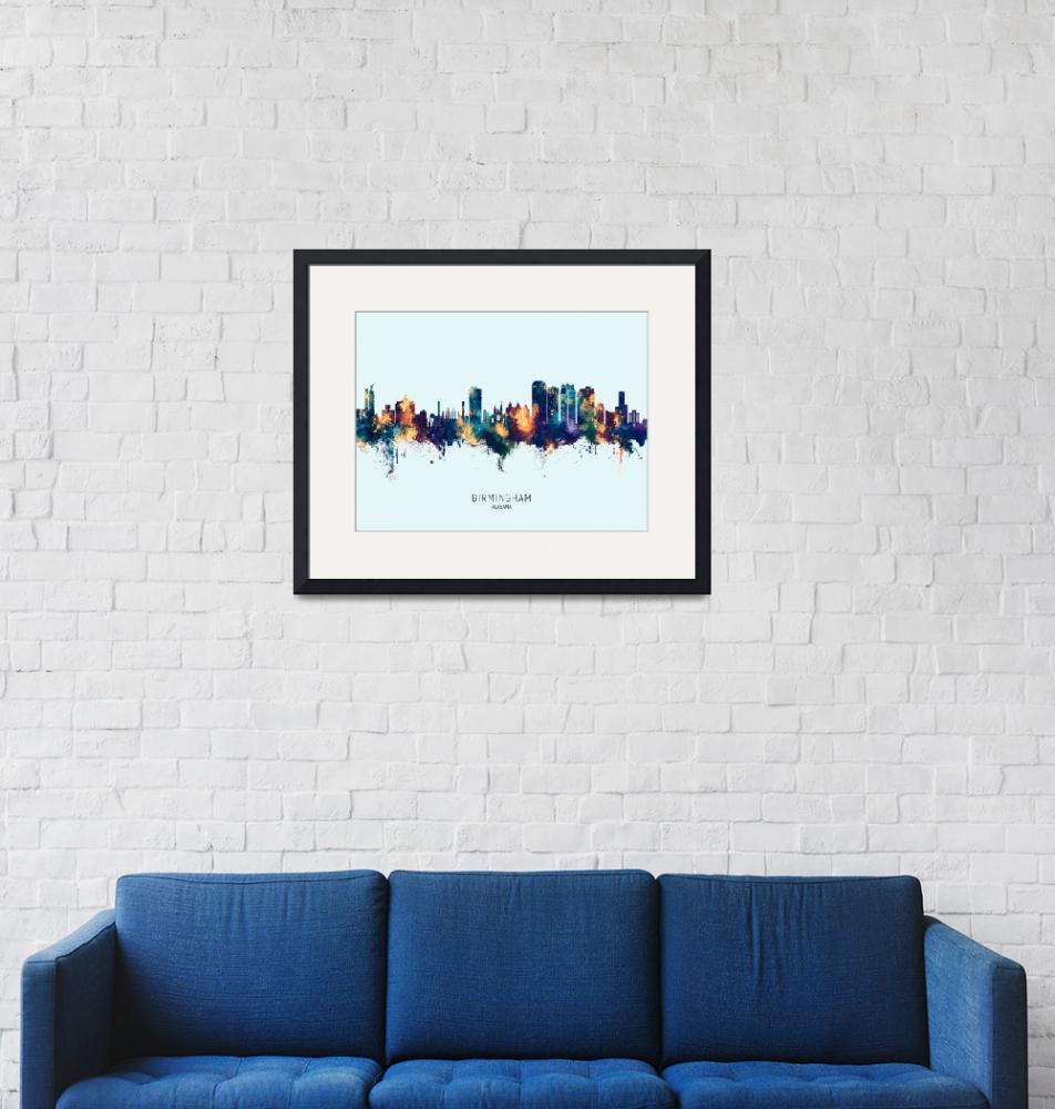 """Birmingham Alabama Skyline"" (2020) by ModernArtPrints"