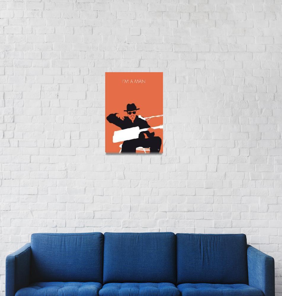 """No103 MY Bo Diddley Minimal Music poster""  by Chungkong"