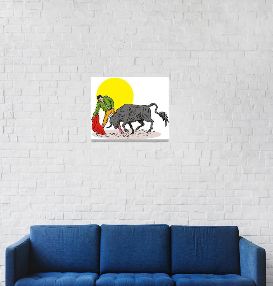 """Bullfighter Matador Bullfighting""  (2013) by patrimonio"