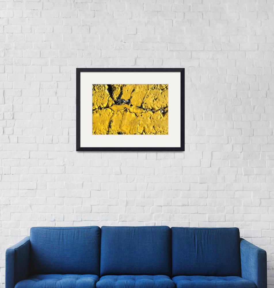 """""""Yellow Line Abstract""""  (2014) by LukeMoore"""