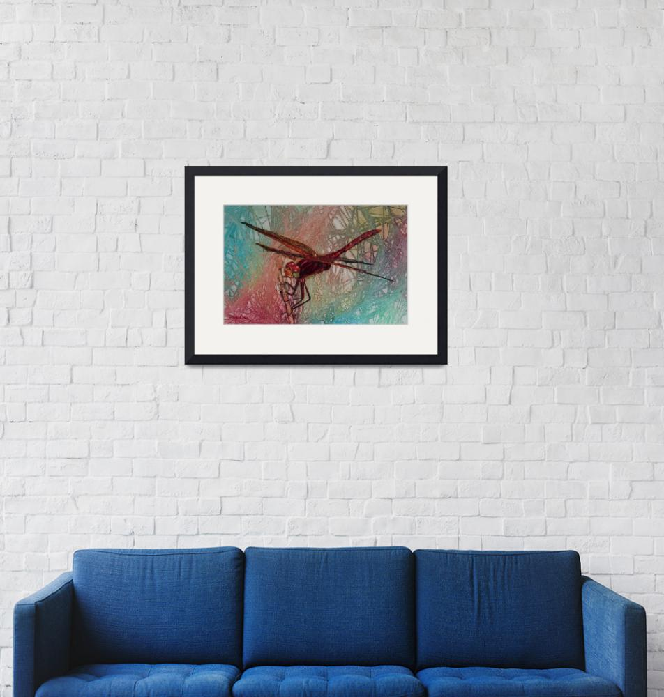 """Dragonfly in Paradise""  (2014) by DianaNadalFineArt"