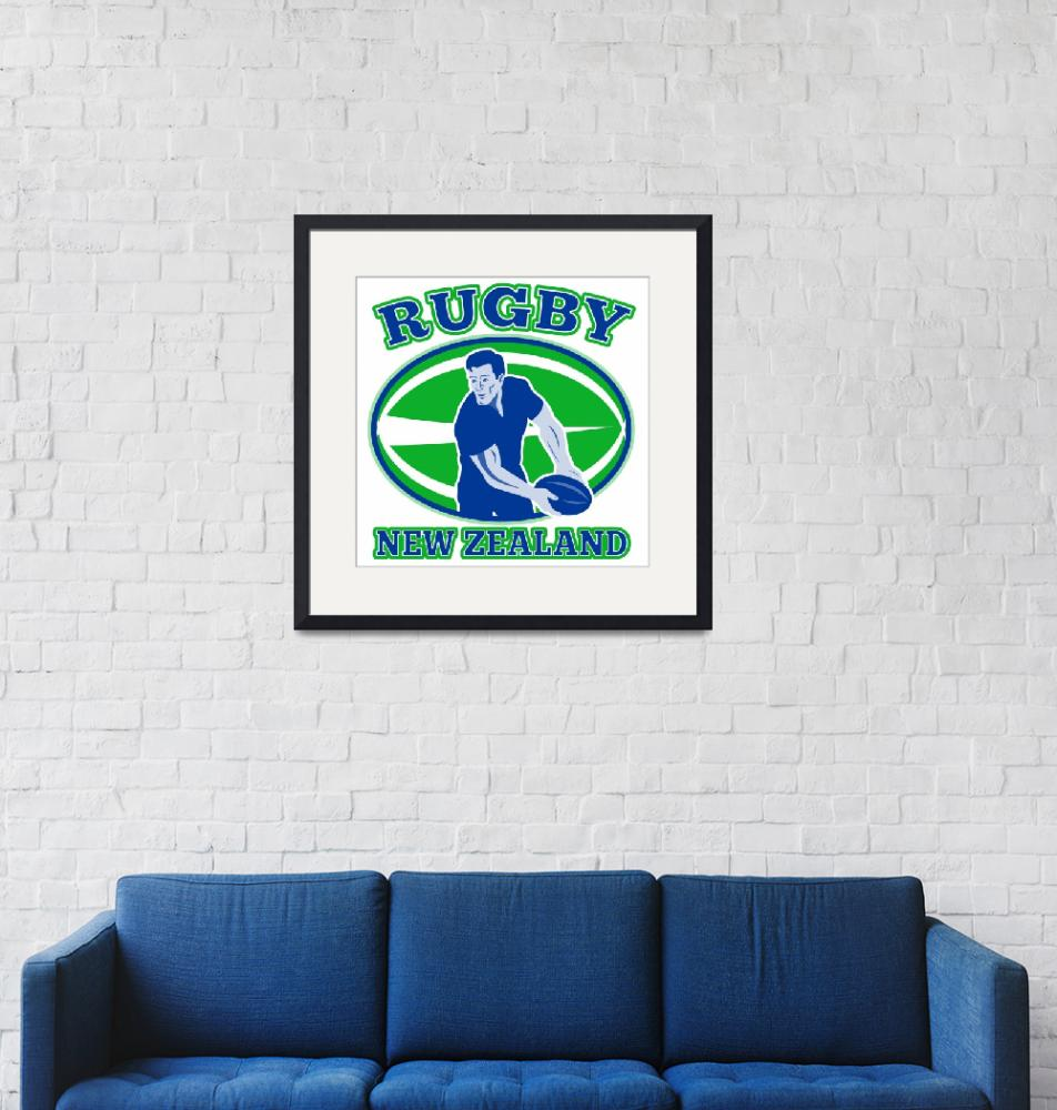 """""""rugby passing front ball new zealand""""  (2013) by patrimonio"""