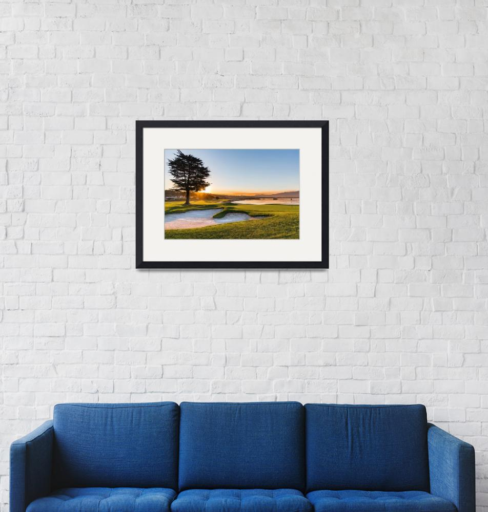 """18th at Pebble Beach Golf Course""  (2016) by centioliphotography"