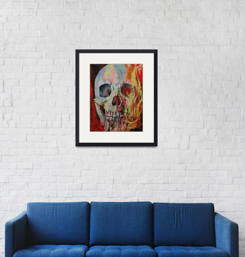 """""""Skull Fire""""  by creese"""