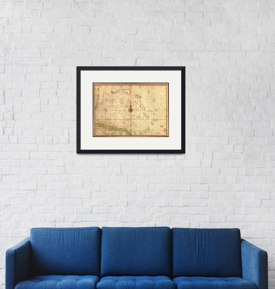 """""""Vintage Map of The Bahamas (1650)""""  by Alleycatshirts"""