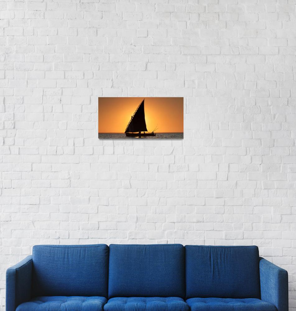 """""""Dhow Cruise at Sunset""""  (2012) by ConnorOBrien"""