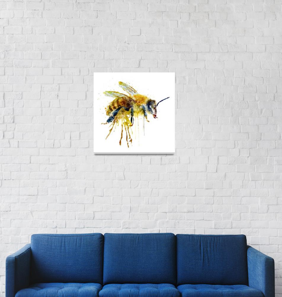 """""""Watercolor Bee""""  (2016) by MarianVoicu"""