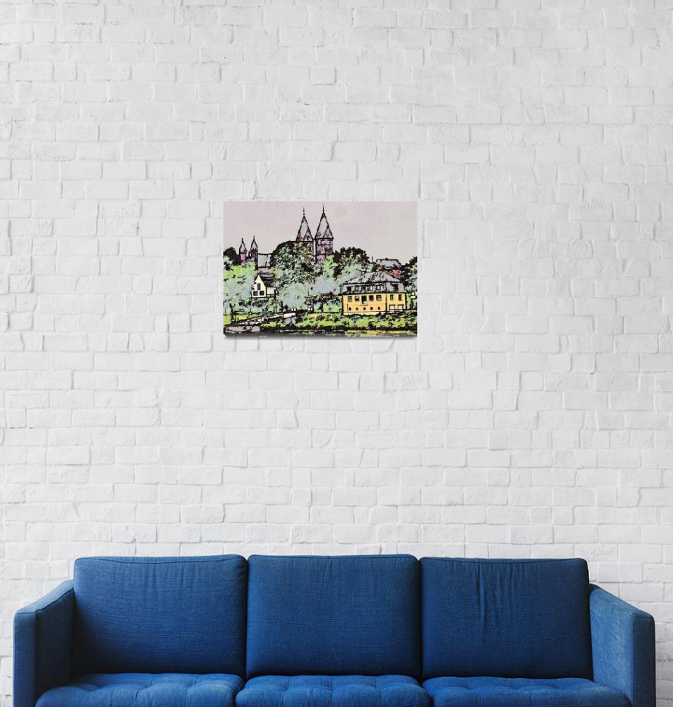 """Along the River Rhine, Dusseldorf""  (2009) by billbarber"