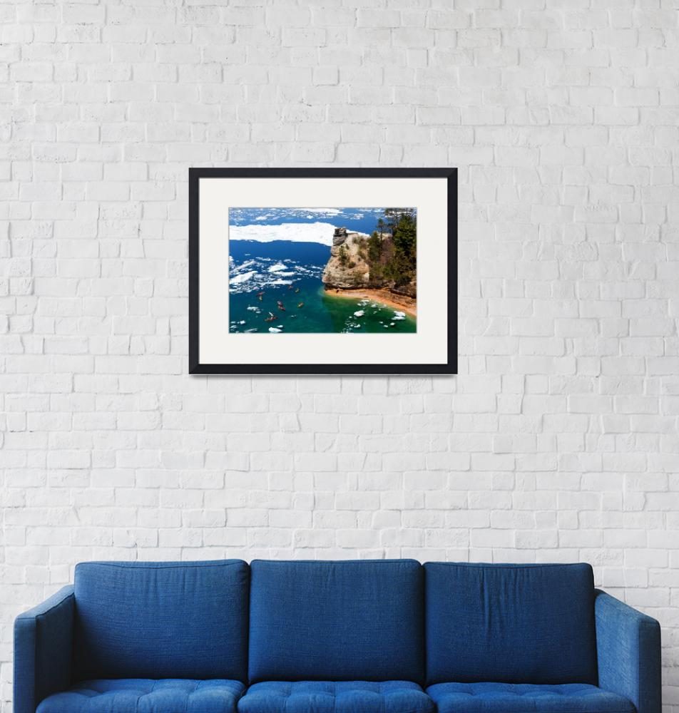 """""""Miners Castle at Pictured Rocks National Lakeshore""""  (2014) by sterk"""