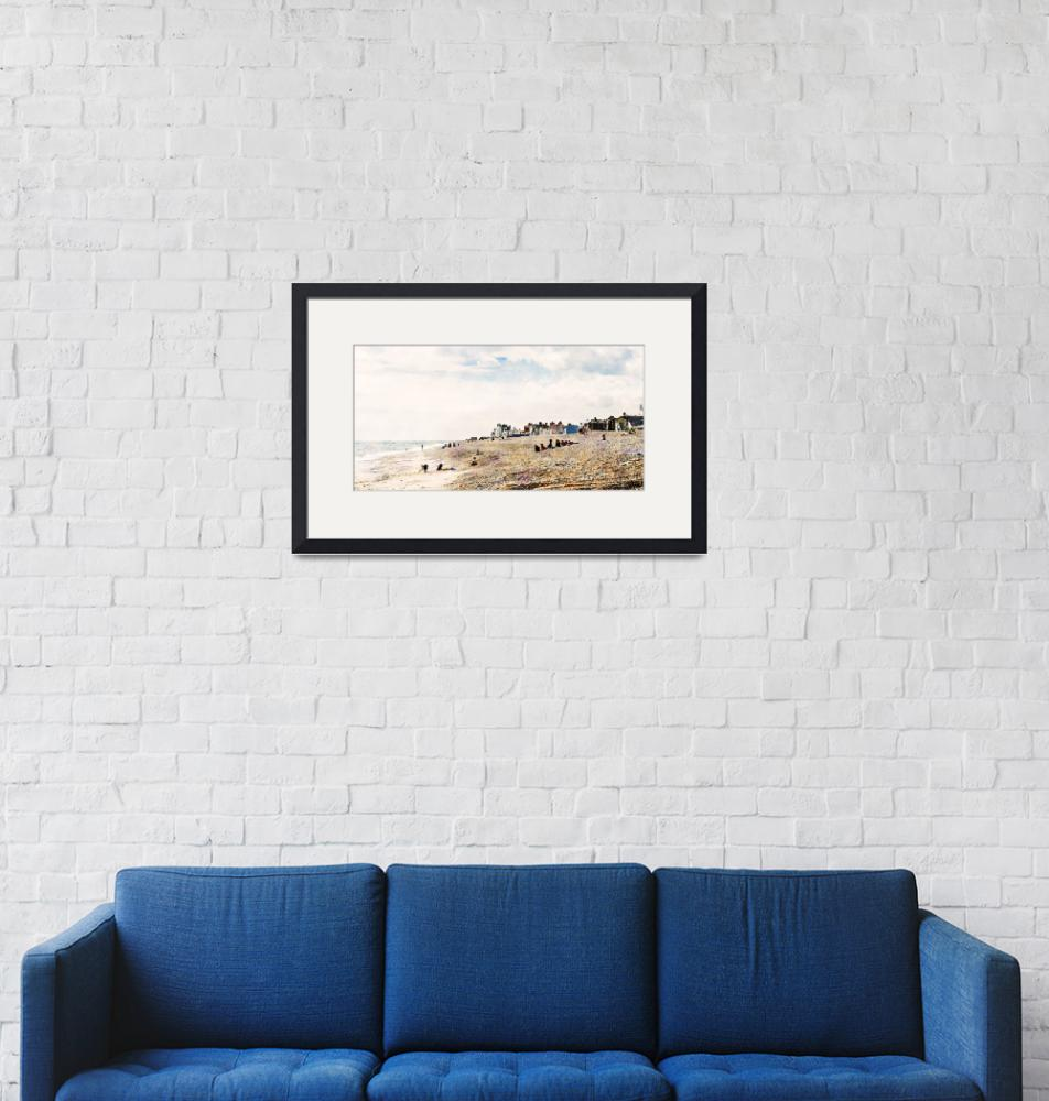"""""""Aldeburgh Village and Beach as Monet would"""