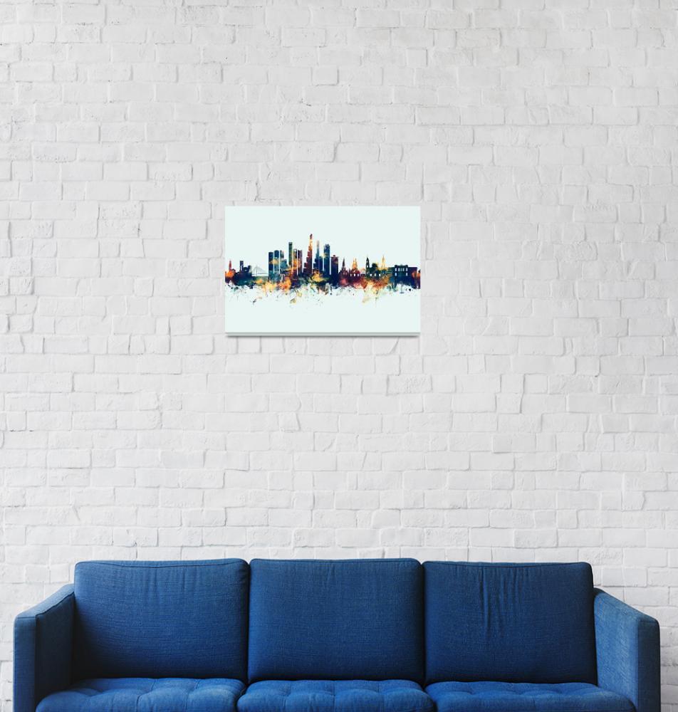 """""""Bogotá Colombia Skyline""""  (2019) by ModernArtPrints"""