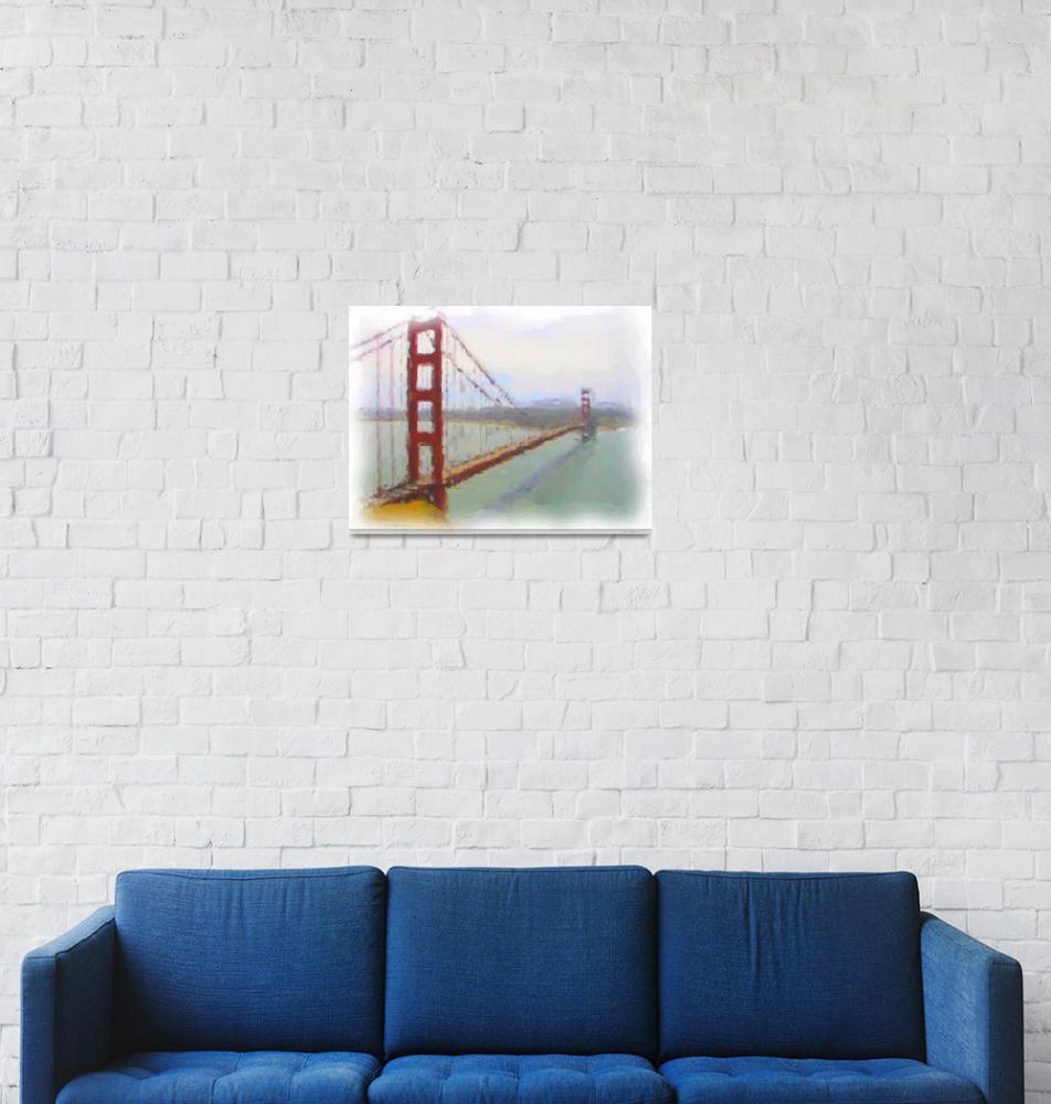 """Golden Gate Bridge San Francisco""  (2009) by katsmouse"