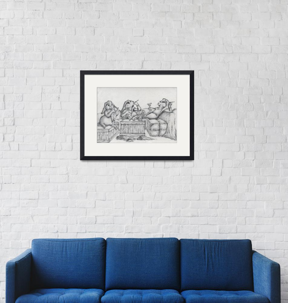"""""""rabbits""""  (1991) by laurieldesign"""