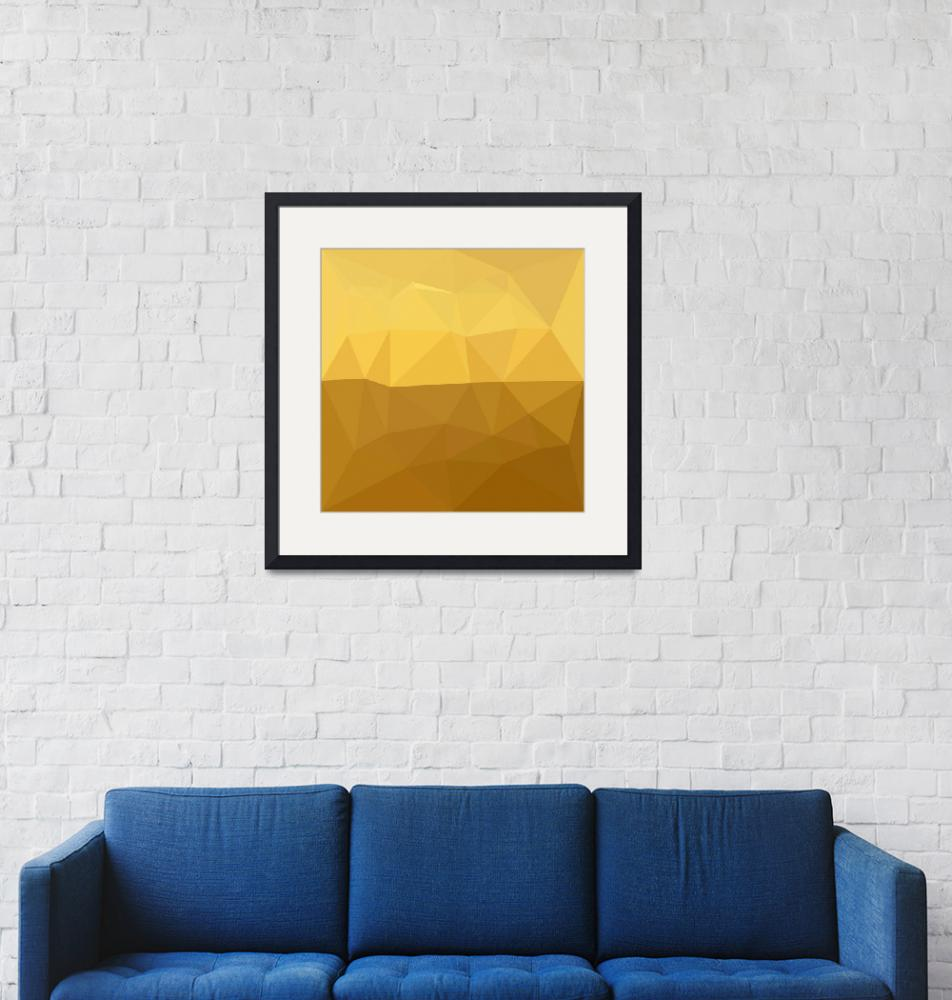 """""""Light Goldenrod Abstract Low Polygon Background"""" (2016) by patrimonio"""