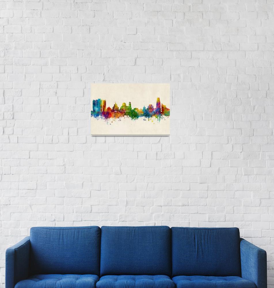 """""""Sofia Bulgaria Skyline""""  (2019) by ModernArtPrints"""